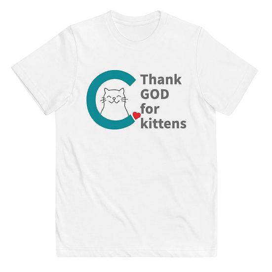 Thank God For Kittens Kids T-shirt