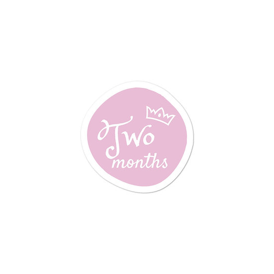 Two Months Baby Milestone Bubble-free sticker