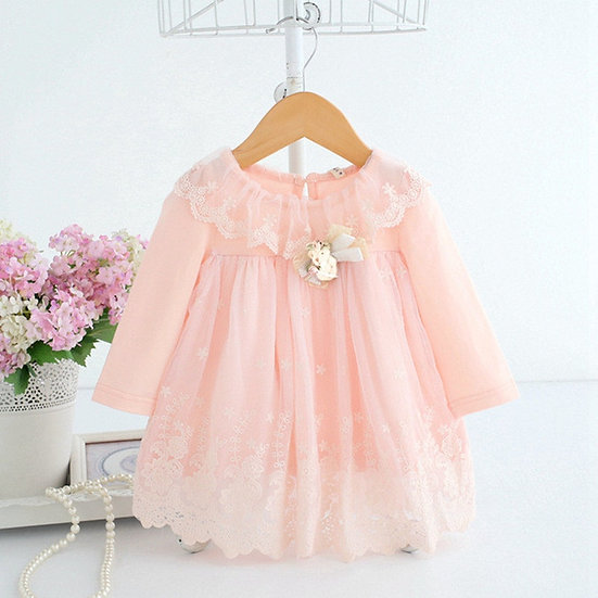 Embroidery Cotton Dress For Baby Girls