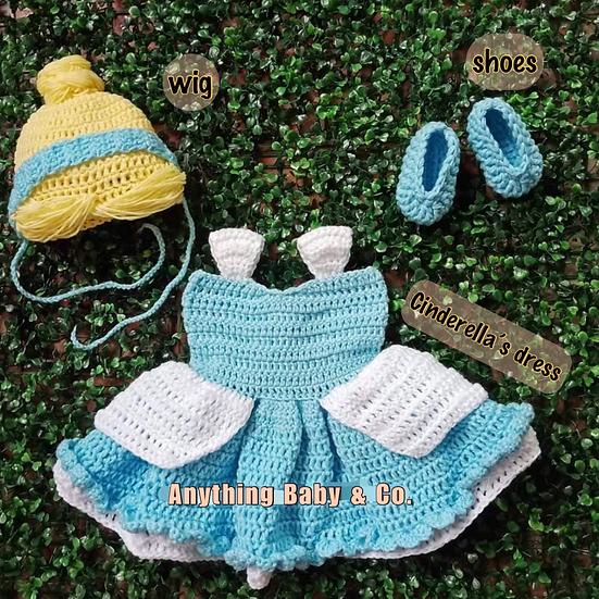 Cinderella Hand Knitted Costume Set