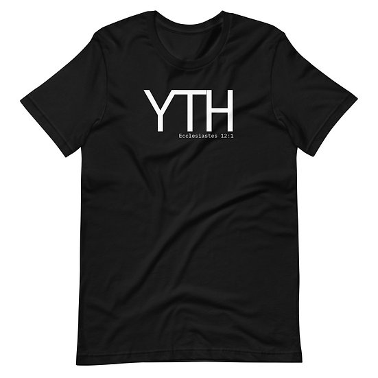 YTH Tee White Print