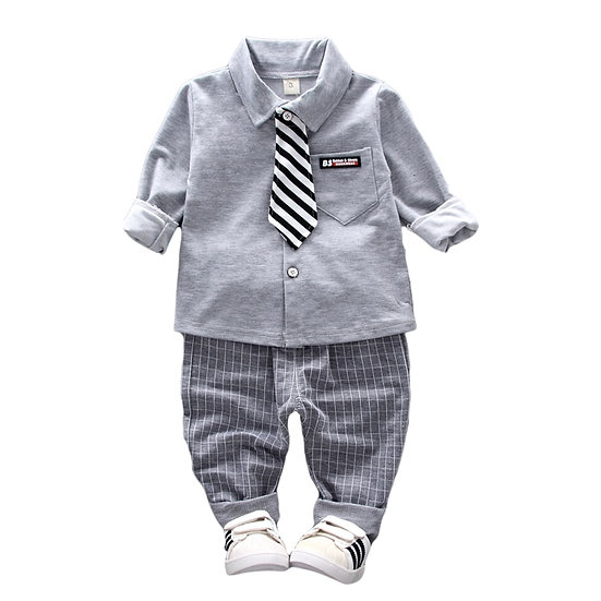 Spring Wear Tie, Shirt, and Pants Fashionable Clothes Set