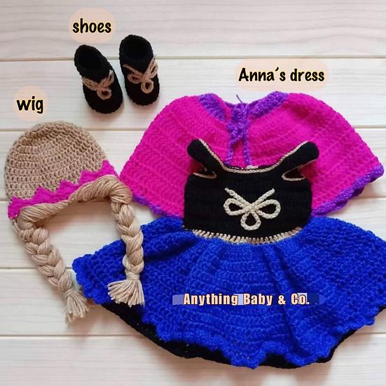 Princess Anna Hand Knitted Costume Set