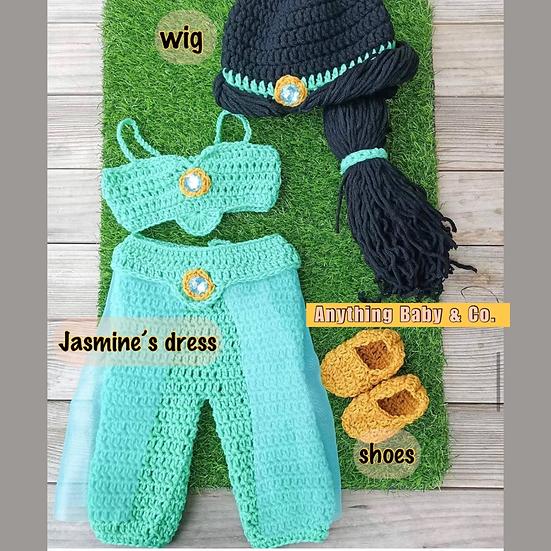 Princess Jasmine Hand Knitted Costume Set
