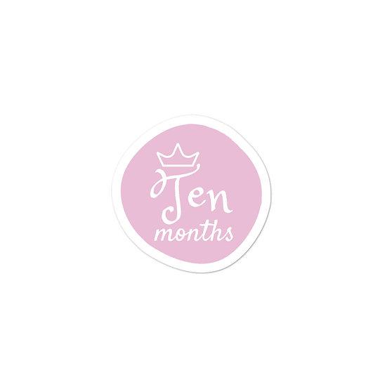 Ten Months Baby Milestone Bubble-free sticker