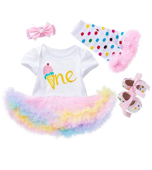 Birthday Milestone Princess Tutu Dress Set
