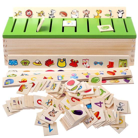 Wooden Creature Cartoon Montessori Toy Puzzle For Children