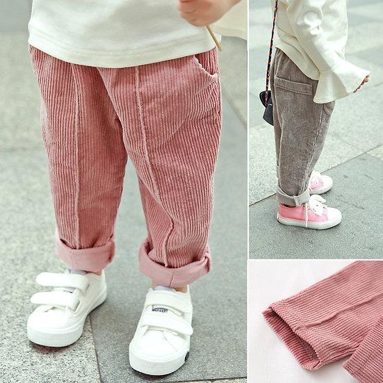 Warm Fleece Corduroy Pants