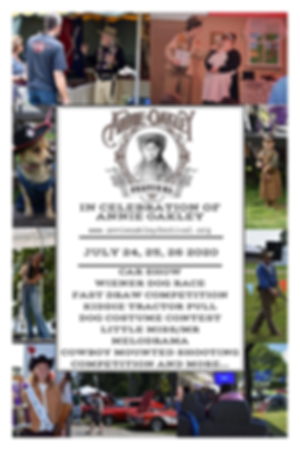 Annie Oakley Fesival 2020 promotional poster