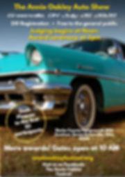 Annie Oakley Auto Show 2020 flyer