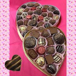 Chocolate heart boxes for Valentine's Da