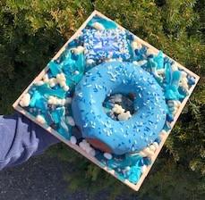 Smash Donut Custom Candy Board Blue