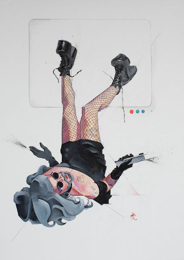 """""""Nothing Good on Telly"""" (Portrait of Nana Arthole)"""