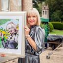 Ashley with Agatha portrait!