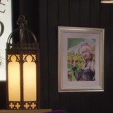 Agatha's place (portrait on wall))