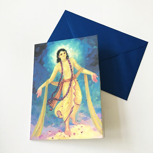 Greeting card with Pearlescent envelope - Mahaprabhu