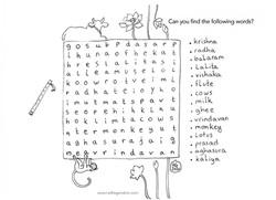 Word search in Vrindavan