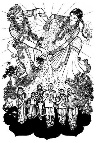 Sri Manah Siksa Ink on paper  2015