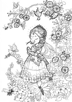 Radha in the rose garden
