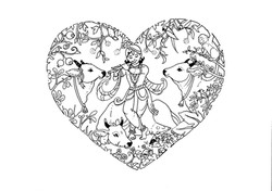 Krsna and is cows in a heart.