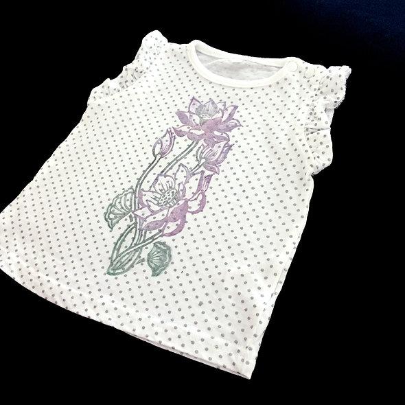 Girl's T-shirt with Lotus prints