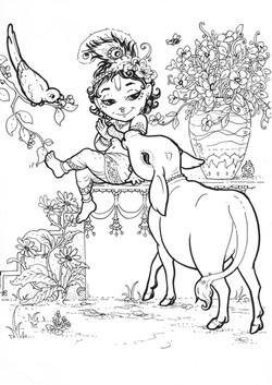 Krishna and calf