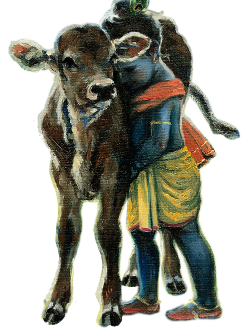 Calf hug Fridge Magnet