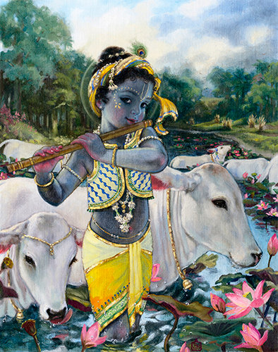 Gopal crossing the Yamuna