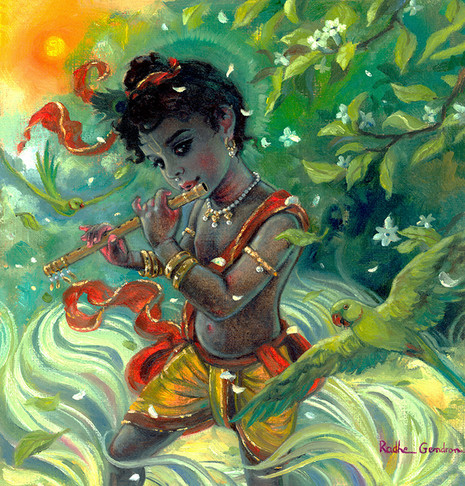 Murari with parrots in the wind