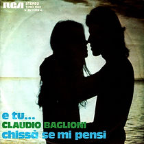 Single E tu/Chissà se mi pensi - 1974