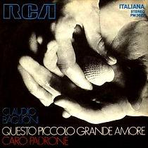 Single Questo piccolo grande amore/Caro padrone - 1972