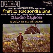 Single Fratello sole sorella luna/Preghiera semplice/Canzone di San Damiano - 1972