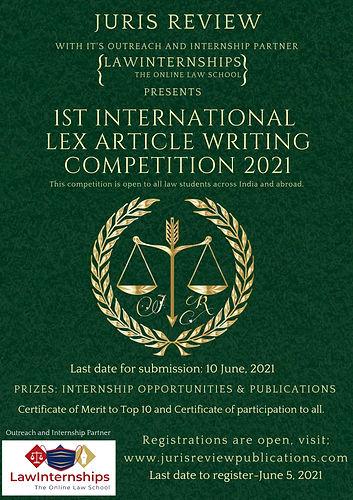 International Lex Article Writing Compet
