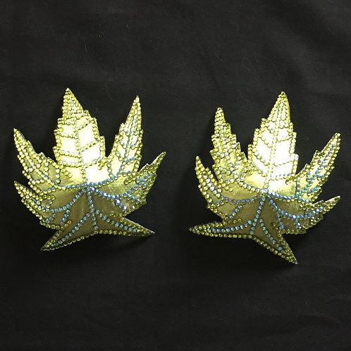 Chartreuse Marijuana Leaves