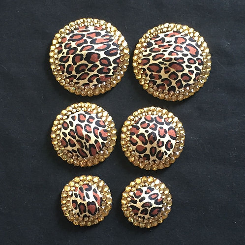 Leopard Print with Light Topaz