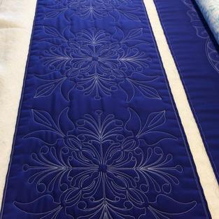 Royal Blue Bed Runner