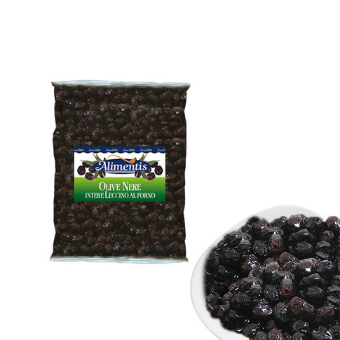 BLACK LECCINO OVEN DRIED OLIVES, WHOLE