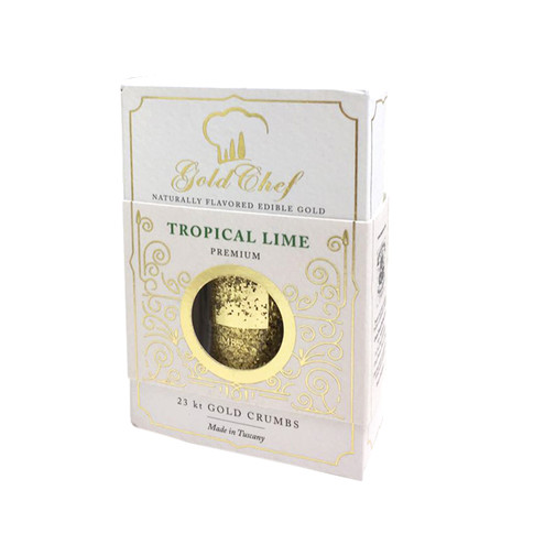 FLAVORED EDIBLE GOLD 23 KARAT TROPICAL LIME