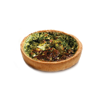 GOAT CHEESE & SPINACH QUICHE (spinach, goat cheese) 125 mm Ø
