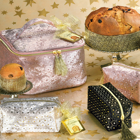 Beauty-case with low Milano panettone 750gr and 80gr