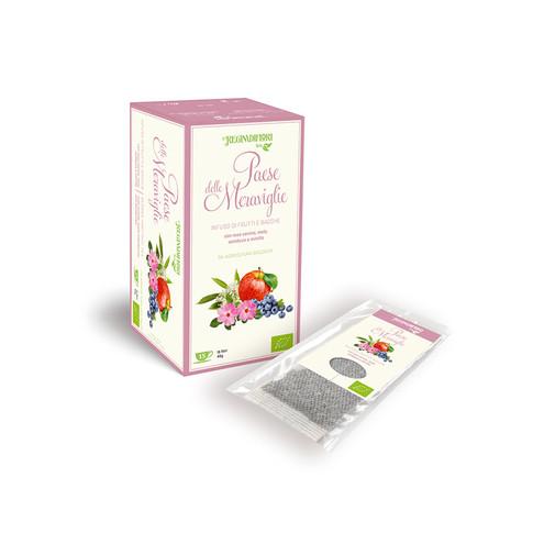 ORGANIC FRUIT HERBAL TEA WITH ROSEHIP, APLE,ELDERBERRY AND BLUEBERRY
