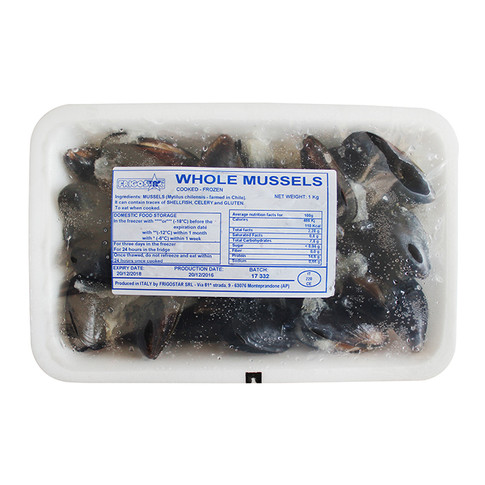VACUUM SEALED FROZEN MUSSELS