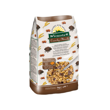 CRUNCHY MUESLI CHOCOLATE - HAZELNUTS