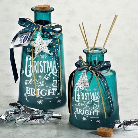 "The ""Merry Christmas"" fragrances diffuser bottles - Medium bottles with Nugatelli 200gr x 300gr"