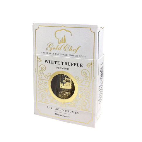 FLAVORED EDIBLE GOLD 23 KARAT WHITE TRUFFLE
