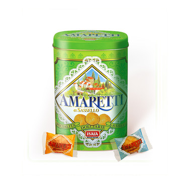 "SOFT AMARETTI ""CLASSIC"" in green metal box"