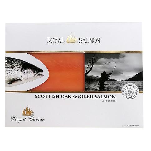 SCOTTISH OAK SMOKED SALMON LONG SLICE 100gr