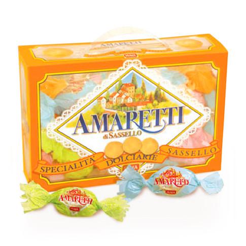 "SOFT AMARETTI ""CLASSIC"" candy wrapped in orange transparent box"