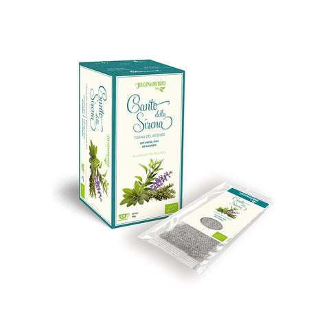 CLEAN MOUTH HERBAL TEA WITH SAGE, THYME AND EUCALYPTUS - 15X3GR BAGS