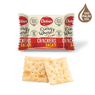 SALTED MINI CRACKERS 12gr INDIVIDUALLY PACKED